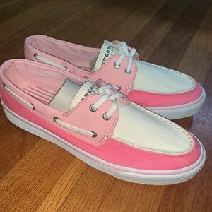 SPERRY TOP-SIDER PINK/ROSE/WHITE BISCAYNE SHOE